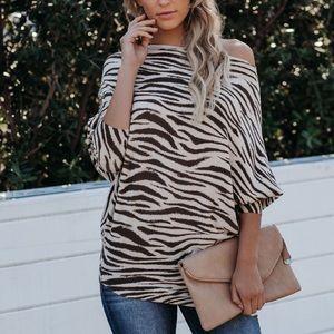 Vici Atlas Zebra Knit sweater
